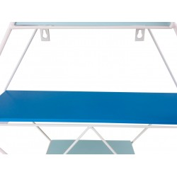 Blue Wire Geometric Shelf