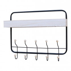 Wall Hanging Shelf With Coat Hooks
