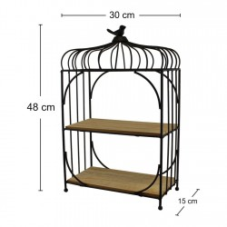 Freestanding Bird Cage Design Shelving Unit