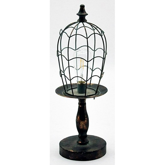 Antique Copper Garden Lamp With Bulb