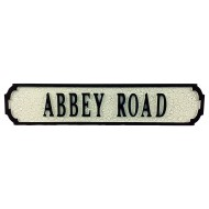 Abbey Road Street Sign 80cmx15cmx1.5cm