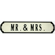 Mr. & Mrs. Street Sign 80cmx15cmx1.5cm