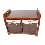 Cambourne Wooden Storage Bench 58 x 34 x 45cm