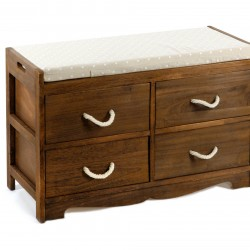 Revesby 4 Drawer Storage Bench 76 x 33 x 51 cm