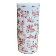 Red and White Pagoda Umbrella Stand
