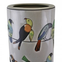 Ceramic Umbrella Stand, Birds Design