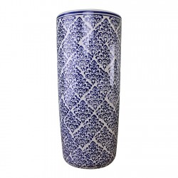 Umbrella Stand Vintage Blue & White Pattern Design
