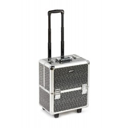 Beautician Makeup Trolley Box Black Silver Stars