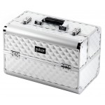 Vanity Case / Makeup Box Heavy Duty Silver