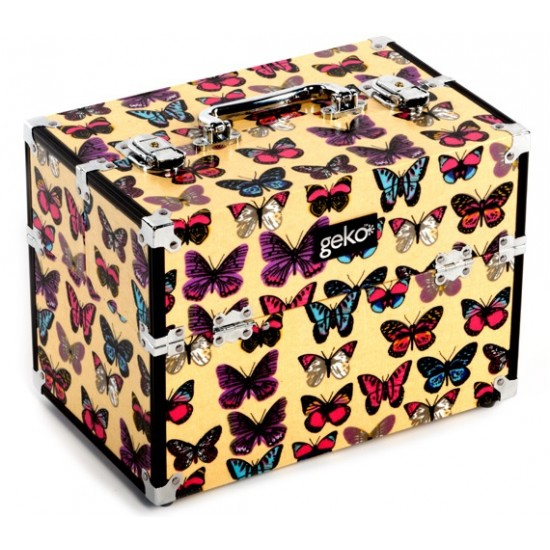 Vanity Case / Makeup Box Butterfly Print