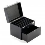 Vanity Case / Makeup Box Heavy Duty Black Glitter