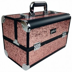 Vanity Case / Makeup Box Heavy Duty Rose Gold Glitter