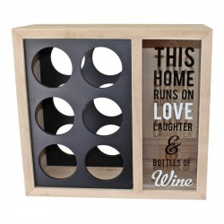 6 Bottle Wine Holder With Cork Storage