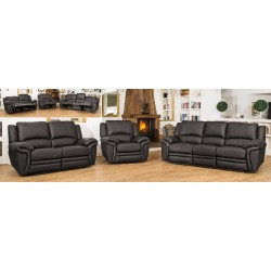 Leather Padded Recliner Sofa