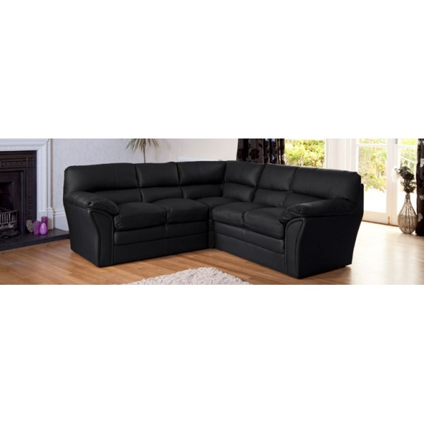 Bonded Leather & Match L Shaped Corner Sofa