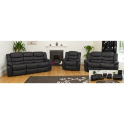 Bonded Leather Recliner Sofa