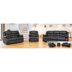 Padded Recliner Sofa