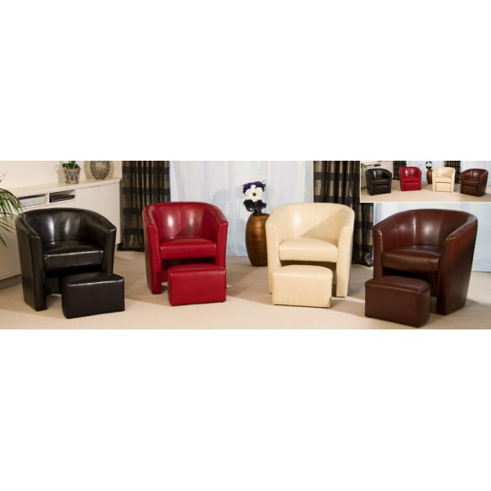 Tub Chair With Footstool