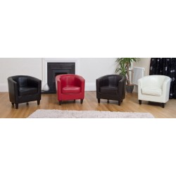 Bonded Leather Tub Chairs