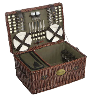 Family Sized Willow Picnic Hamper