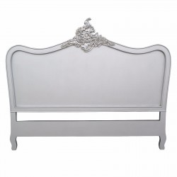 French Antique Silver 4ft6 Double Size Headboard