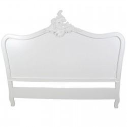 French White 5ft King Size Headboard