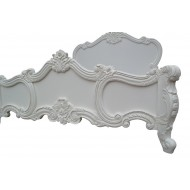 French White Carved Rose Cherub Super King Size 6ft Bed