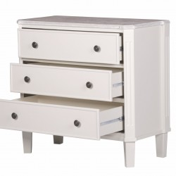 Cottage Pale Cream 3 Drawer Chest