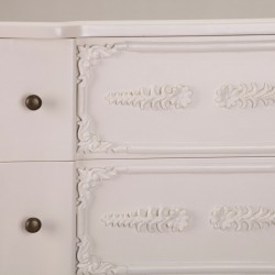 French Antique Cream 3 Drawer Chest