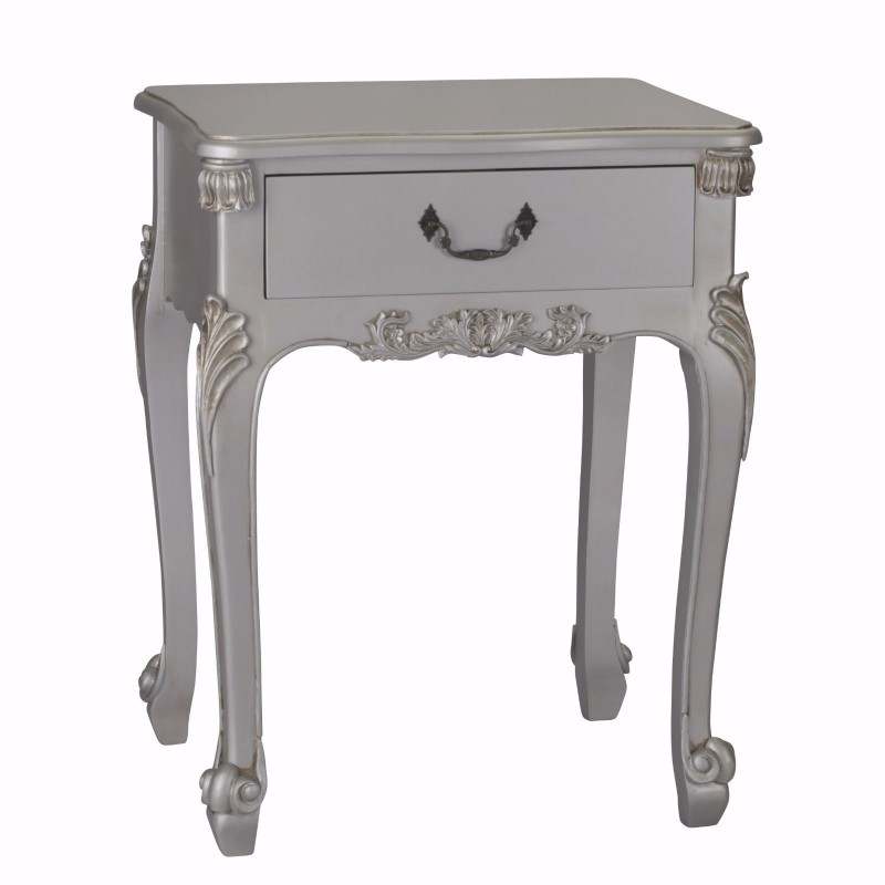 French antique silver single drawer bedside watchthetrailerfo