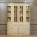 Large Vintage Cream Dresser Display Cabinet