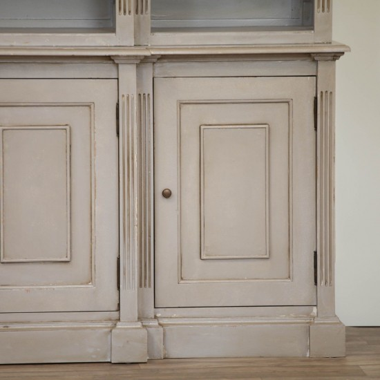 Distressed Bookcase Display Cabinet