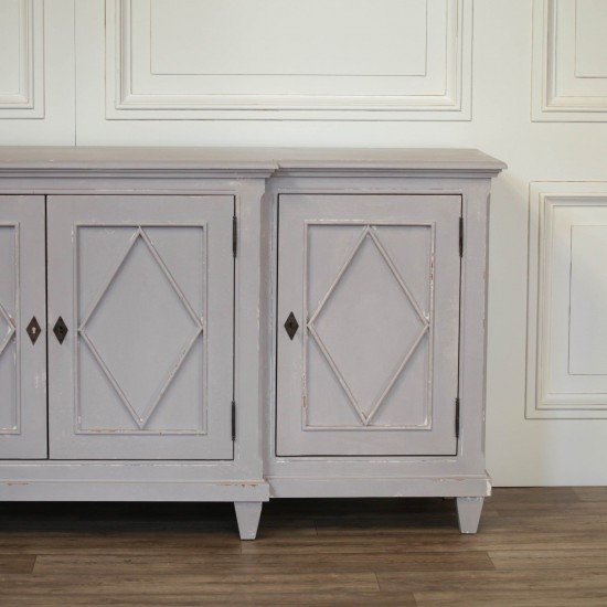 Classical Distressed Sideboard 206cm