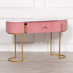 Pink Upholstered Dressing Table