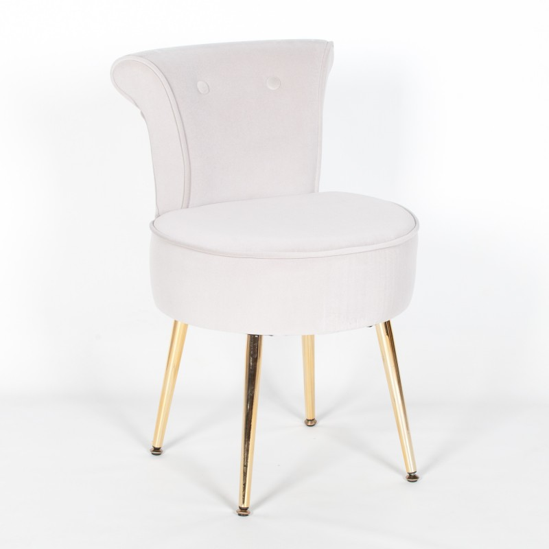 Surprising Grey Stool Bedroom Chair With Gold Legs Machost Co Dining Chair Design Ideas Machostcouk