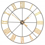 Large 102cm Metal Wall Clock with Gold Numerals