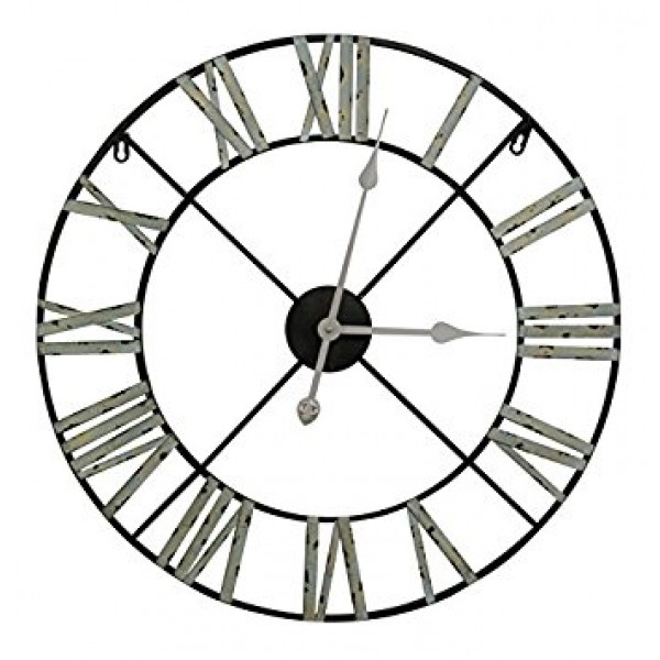Medium 60cm Vintage Metal Wall Clock