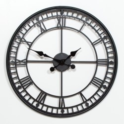 Black 55cm Metal Wall Clock