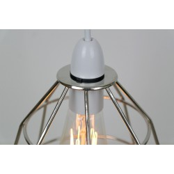 Chrome Industrial Cage Light Shade