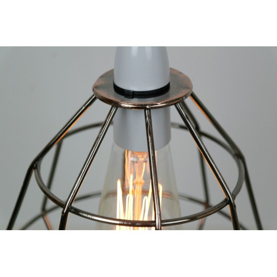 Copper Industrial Cage Light Shade
