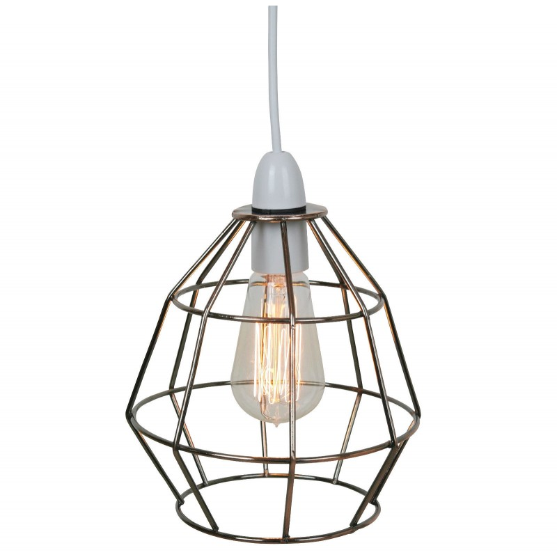 Copper industrial cage light shade aloadofball Gallery