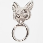 Chrome Fox Door Knocker