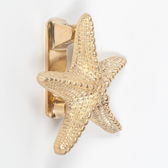 Brass Starfish Door Knocker
