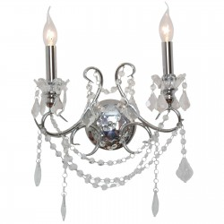 Chrome 2 Branch Chandelier Wall Light