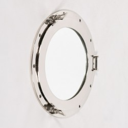 Large Polished Port Hole Mirror