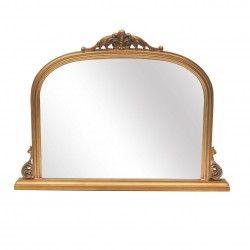 French Gold Overmantle Mirror
