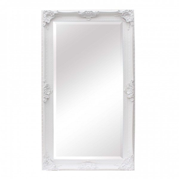 Extra Large Ornate White Mirror