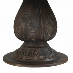 Round Pedestal Acorn Dining Table
