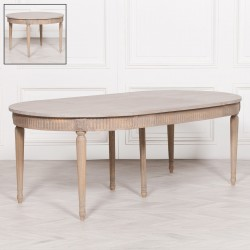 Rustic Wooden Extendable 100cm Dining Table