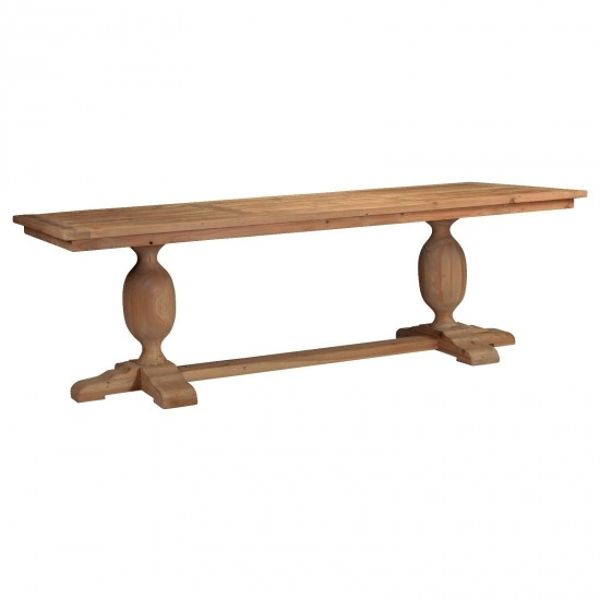 Weathered Pine Pedestal Dining Table
